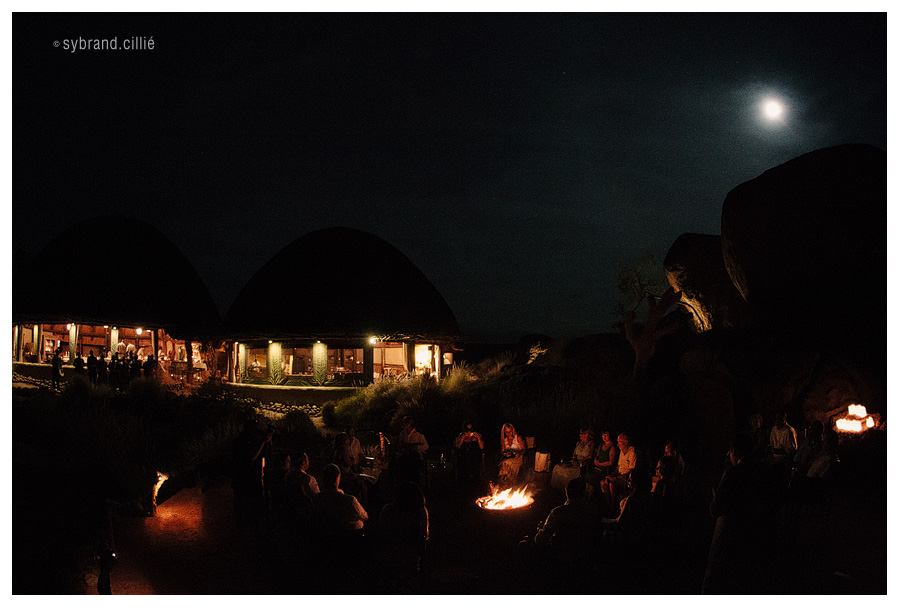 Spectacular Namibian desert wedding with the Soweto Gospel Chior. Mowani Mountain Camp