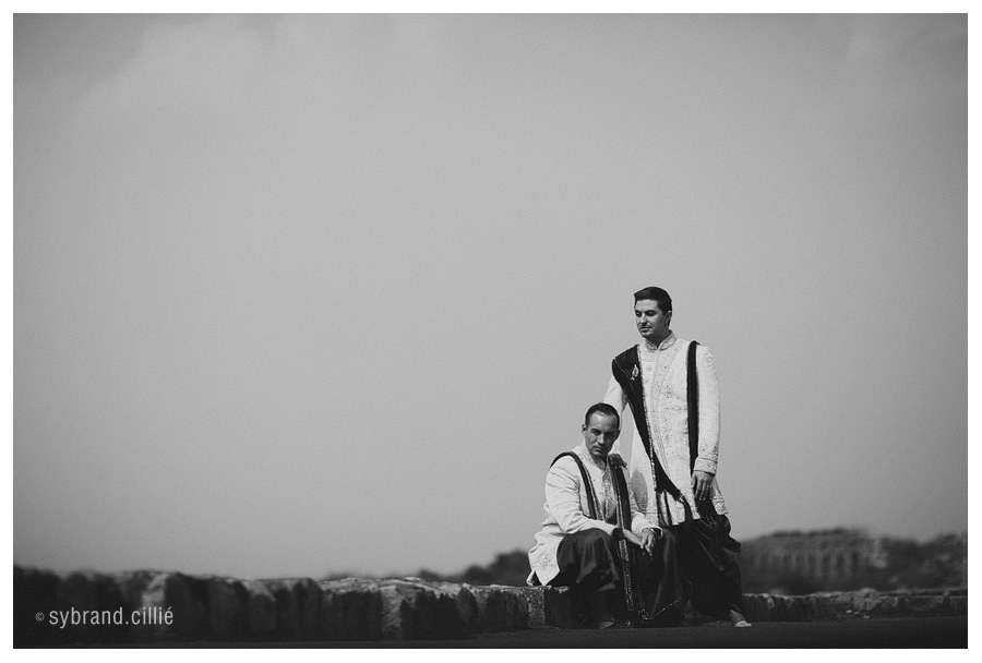 Beautiful gay wedding on the Ganges river, Varanasi, India